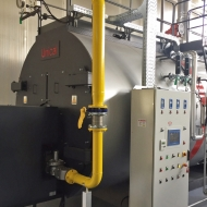 TEXTILE COMPANY - STEAM BOILER TRYPASS' 7000 COMPLETE WITH ECONOMIZER AND LOW NOx NATURAL GAS BURNER - 95,5% EFFICIENCY - NOx EMISSIONS < 70 mg/Nm3