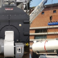 RAILWAY STATION - n. 2 STEAM BOILER TRYPASS' 15000 COMPLETE WITH ECONOMIZER AND LOW NOx NATURAL GAS BURNER - 95,5% EFFICIENCY - NOx EMISSIONS < 70 mg/Nm3