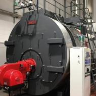 TEXTILE COMPANY - STEAM BOILER TRYPASS 6000 COMPLETE WITH ECONOMIZER AND LOW NOx NATURAL GAS BURNER - 96% EFFICIENCY - NOx EMISSIONS < 80 mg/Nm3