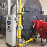 FOOD COMPANY - STEAM BOILER TRYPASS 8000, COMPLETE WITH ECONOMIZER AND LOW NOx NATURAL GAS BURNER - 96% EFFICIENCY - NOx EMISSIONS < 70 mg/Nm3